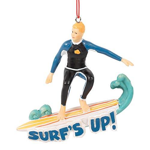 Midwest-CBK Surf's Up Dekofigur zum Aufhängen, Kunstharz, 5 x 4 cm, Blau