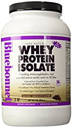 Bluebonnet Nutrition 100% Natural Whey Protein Isolate Powder Chocolate Flavor - 2 lbs