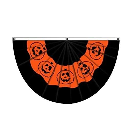 Alptraum Vor Weihnachten Outdoor Dekorationen - Hikaka Kürbis Halloween Bunting Flagge, Halloween