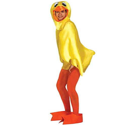Disfraz patito de goma Traje pato de baño L 52/54 Atuendo carnaval pato bañera Traje animal adulto Caracterización Juguete flexible Vestimenta ave para jugar