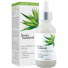Suero de Ácido Hialurónico InstaNatural para Piel Seca Facial - Con Vit. C, Ingredientes