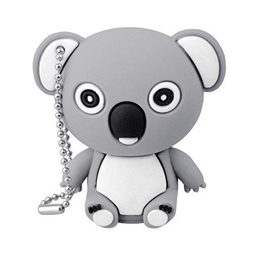Animali pendrive 16 gb chiavette usb flash drive 2.0 memory stick archiviazione dati, portachiavi, koala, grigio