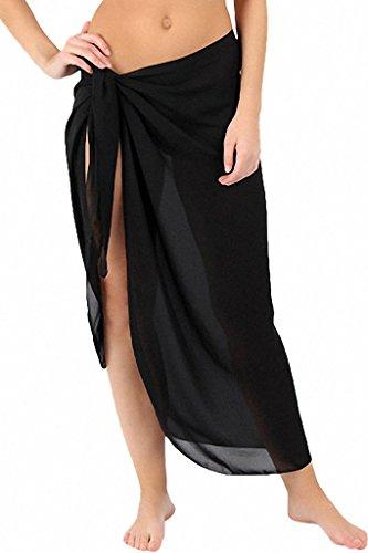 Labelar Damen Pareo Badeanzug Cover up Chiffon Strandrock Rock Kleid Bikinirock Strand Sexy (Badeanzug Kleid Up Cover)