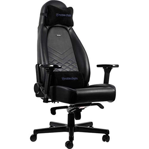 noblechairs ICON Gaming Stuhl - Bürostuhl - Schreibtischstuhl - PU-Kunstleder - Schwarz/Blau