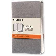 Moleskine Soft Grey Ruled Cahier Pocket Journal (3 Set)