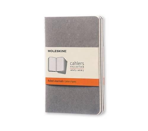 Price comparison product image Moleskine Soft Grey Ruled Cahier Pocket Journal (3 Set)