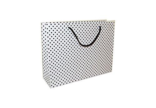 Schöner großer Polka Dot Schwarz und Weiß Geschenk Taschen-Für Weihnachten Geburtstag-12Stück
