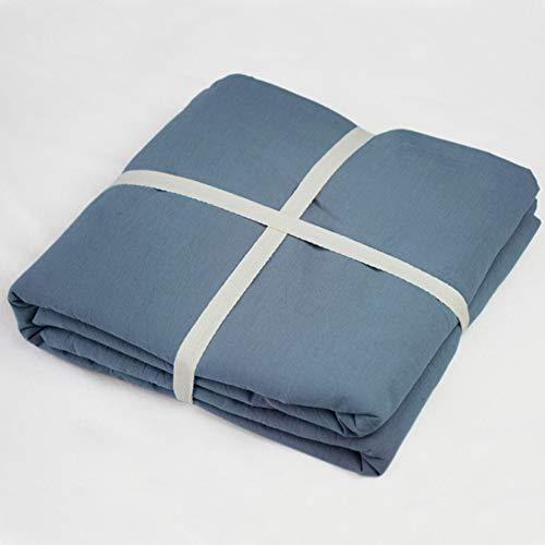 CQ BettwäSche Gewaschen Baumwolle Super Weich, Kein Eisen und Anti-Falten,Blue,120 * 200+25cm