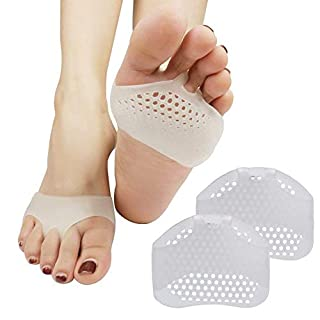 Metatarsal Pads Breathable - Ball of Foot Cushions Extra Soft Cushioning Inserts By Pedimend - Gel Pads Shoes Metatarsalgia Inserts perfect for runners, active lifestyle, sports, standing jobs, Foot Pads Prevent Callus and Blisters (1 PAIR)