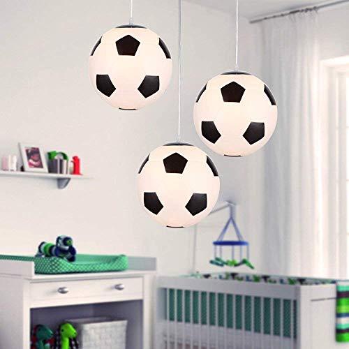 Kreative Kostüm Fan Fußball - Kreative Fußball Deckenleuchte LED moderne Beleuchtung Fußball Deckenlampe Deckenlampe Deckenlampe Lampenschirm Schatten Glas Deckenleuchte Kronleuchter mit Halterung E27