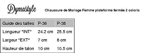 Chaussure Cérémonie de Femme escarpin plateforme 2 coloris Blanc Cassé