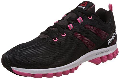 Reebok Women's Sublite Super Duo 2.0 Black, Grey, Pink and White Running Shoes – 6 UK 4148o5qBFWL