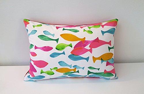 handmade-decorative-ocean-fish-cushion-cover-35cm-x-50cm-14-x-20-and-45cm-x-45cm-18-x-18-raspberry-g