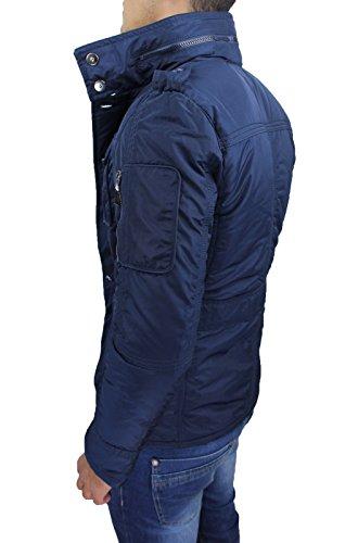 Mat Sartoriale Herren Parka Jacke blau dunkelblau Small Blau
