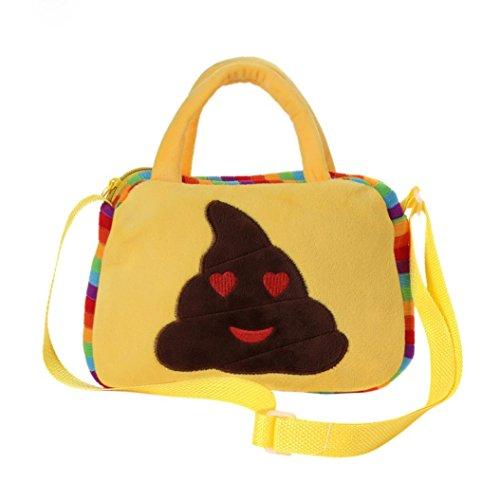 Imagen de goodsatar goodsatar lindo emoji emoticono escuela de hombro bolso del niño  bolsa bolso de la  d1