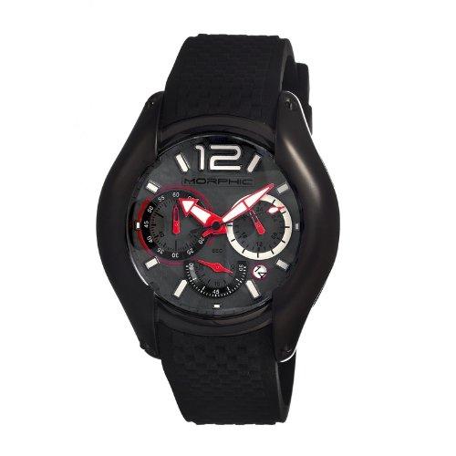 Morphic mph0308–Montre pour Hommes, Bracelet en Silicone Couleur Noir