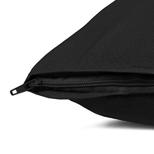 SHC Textilien 2er Pack Premium Kissenbezug Renforcé 100% Baumwolle Ganzjahres Kissenhülle mit YKK Reißverschluss 40x80cm Schwarz - Premium Pack Bettwäsche-set