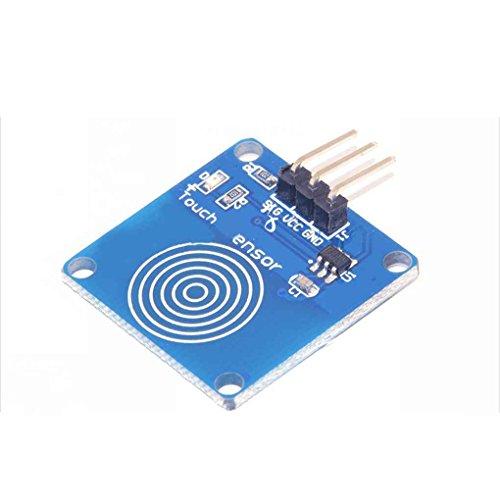 fgyhtyjuu Interruptor del Sensor Digital 1PC módulo táctil capacitiva para Arduino Azul