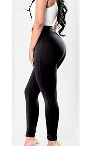 Les Pantalons Taille Haute, Jambières Pantalon Cravate Mince Pansement Black