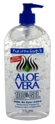 Fruit Of The Earth 100% Aloe Vera 24oz Gel Pump (2 Pack)