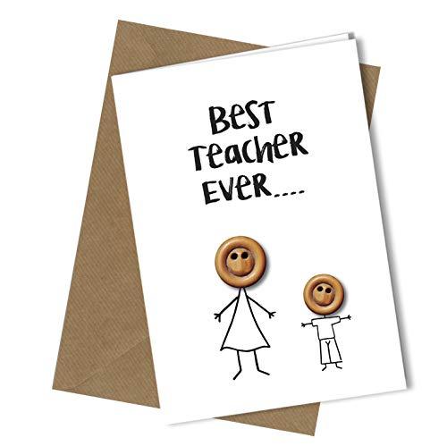 #259 Tarjeta felicitación mejor profesor niño A4