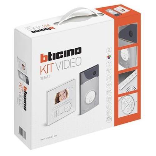 Immagine di Bticino 363411 Kit Vivavoce Monofamiliare con Videocitofono e Pulsantiera, Bianco