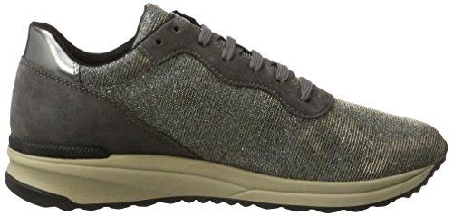 Geox Damen D Airell B Sneaker Grau (Gun/Dk Grey)