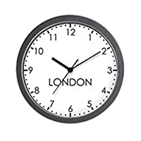"CafePress - LONDON Modern Newsroom - Unique Decorative 10"" Wall Clock"
