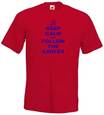 Crystal Palace FC Keep Calm And Follow The Eagles Football T-Shirt - All Sizes Available (5X)