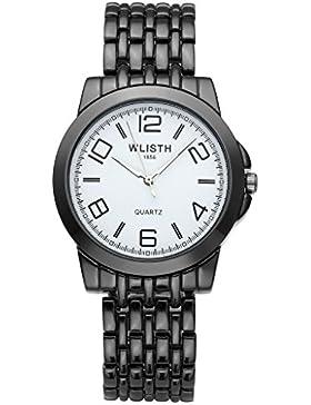 JSDDE Uhren,Klassische Business Damen-Armbanduhr Wasserdicht Uhr Casual Analog Quarzuhr mit Edelstahl Armband,...