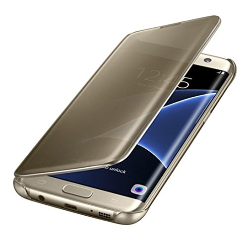 Qissy Samsung Galaxy S6 Edge Custodia, Nuovo Paraurti Antiurto Antigraffio Smart Cover Per Galaxy S6 Edge Cover (Samsung Galaxy S6 Edge, oro)