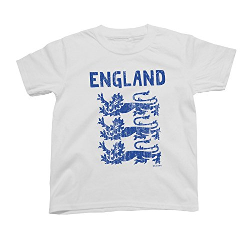 Boys Or Girls T-Shirt England 3 Lions World Cup 2018 Football Kids Patriotic English Retro