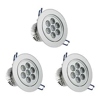 3× Auralum® 7W 650LM 2800K~3000K Blanc Chaud LED Plafond Rond Encastré Lampe Spot