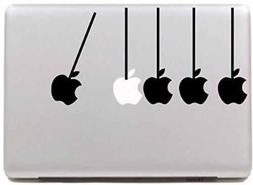 Vati Blätter Removable Kreative Fünf Äpfel Aufkleber Aufkleber Skin Art Schwarz für Apple Macbook Pro Air Mac 13