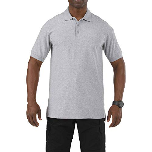 5.11 Tactical Series Utility Polo Short Sleeve Homme, Heather Grey, FR (Taille Fabricant : 3XL)