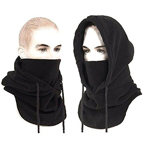 LUOEM Winddichte Mütze Maske Cap Full Face Kappe Hut Maske Winter Thermo Full Face Maske Hut Hals wärmer (schwarz)