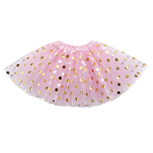 Amlaiworld Baby Mädchen Punktdruck röcke Niedlich Mehrschichtig Kleider Kinder flauschig Mode Tütü Prinzessin Party Kleidung, 0-6 Jahren (2-6 Jahren, G)