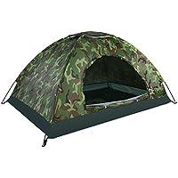 Tente Dôme Camouflage Etanche 2 Personnes Tente de Camping Bivouac Imperméable Anti UV Léger pour Randonnée Plage Camping Extérieur…
