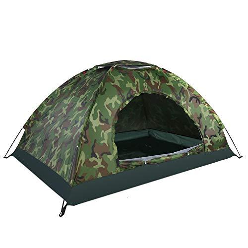 Campingzelt 2 Personen Wasserdicht UV Schutz Camouflage Zelt für Outdoor Sports Klettern Wandern