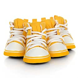 Yellow, S 2 : HOOPET NEW Dog Canvas Shoes Leisure Warm Autumn/Winter 4 Colors Pet Supplies Product