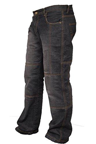 Newfacelook Denim-Motorrad-Jeans für Herren, Aramid-Schutz, Schwarz