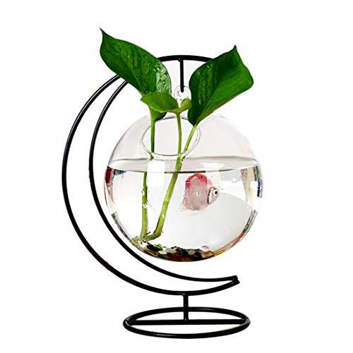 Yshen Aquariumusbaquarium Heimtierbedarf Crescent Iron Frame Hängen Aquarium Für Betta Fisch Mit