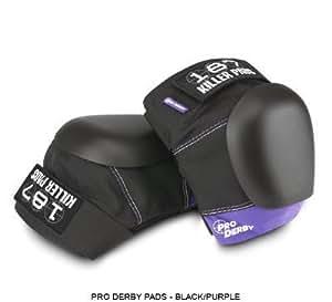 187 Pro Derby Knee Pads (Black / Purple, Large)