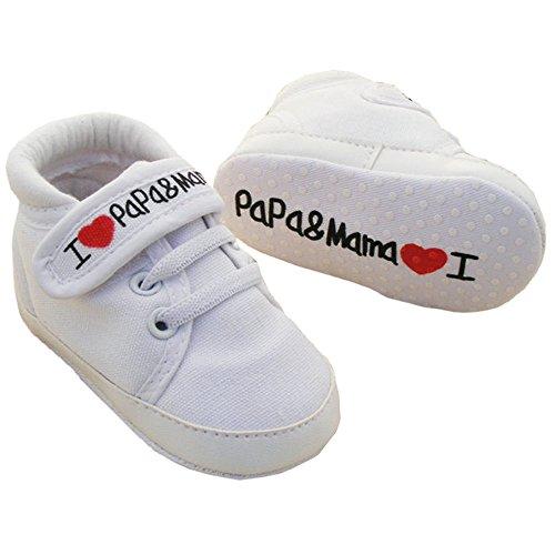 EROSPA EROSPA® Babyschuhe I Love Mama & Papa Lauflernschuhe Unisex Mädchen Jungen Sneaker Schühchen weiche Sohle 12 cm