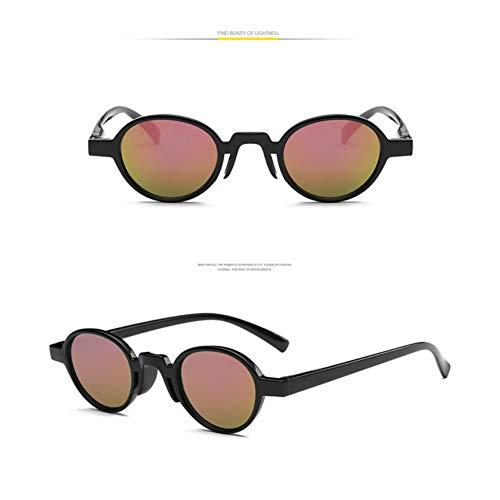 Taiyangcheng Sonnenbrille Runde Männer Sonnenbrille Frauen Spiegel Luxury Black Female,schwarz pink