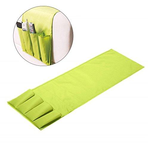 Vorcool portaoggetti per divano in tessuto con 4 tasche in verde