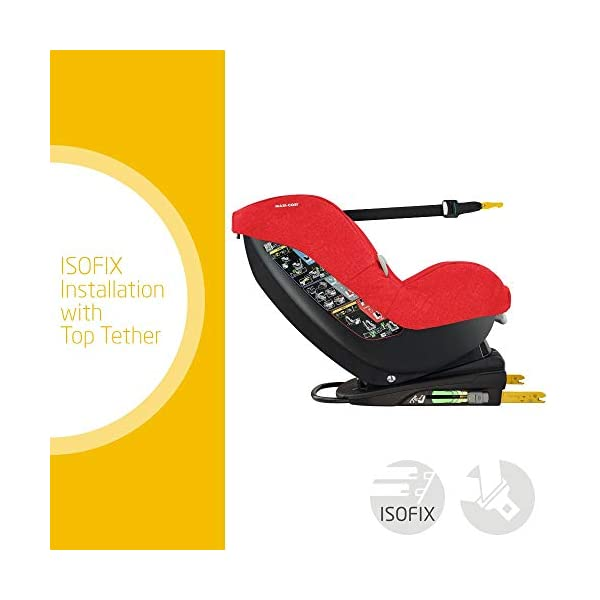 Maxi-Cosi MiloFix ISOFIX Combination Car Seat, Group 0+/1 car seat, Rear and Forward-facing, 0-4 years, 0-18 kg, Nomad Red Maxi-Cosi Extended rearward-facing travel up until 18 months for improved head and neck protection Install using isofix with top tether anchorage strap with colour indicators Long-lasting car seat, growing with baby from birth to approx. 4 years old 2