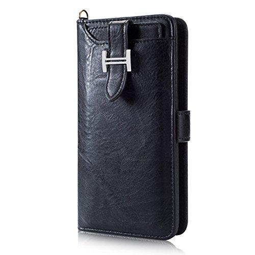 Galaxy S9 Plus Hülle Case,PU Leder Flip Wallet Zipper Card Slots Kartensteckplätze Money Pocket Clutch Case Retro Vintage Ständer Smart Wallet Tasche Magnetic Phone Sleeve Verwendung & ID Halter