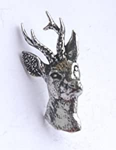 Chevreuil-badge button broches pins écussons à la main en or au royaume-uni en étain