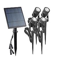 VANPOWER Solar Spike Spot Lights 4W Outdoor Garden Lawn Led IP65 Lamps (Warm White)